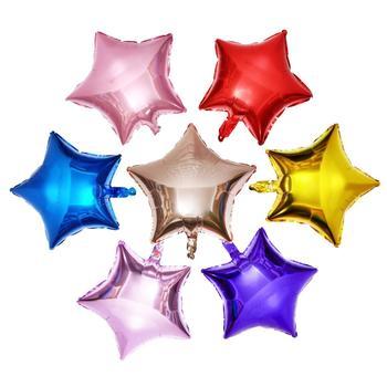 10 sztuk 10 cali pięcioramienna gwiazda foliowe balony na brzuszkowe ślubne dekoracje na imprezę urodzinową dla dzieci balony tanie i dobre opinie Folia aluminiowa Ślub i Zaręczyny St Świętego patryka Wielkie Wydarzenie Birthday party Dom ruchome Dzień dziecka Powrót do szkoły