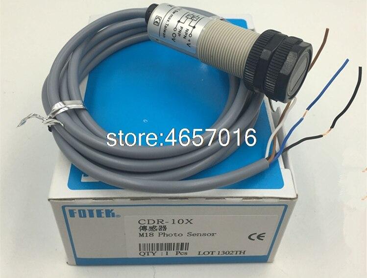 Novo tipo Tubular Fotek Sensor Foto Interruptor Fotoelétrico 10-30 Vdc Npn & Pnp Cdr-10x M18