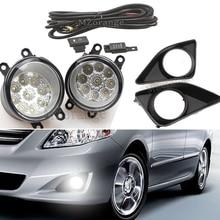 9LED Front Fog Light Lamp for Toyota Corolla Avensis Camry Ractis Verso RAV 4 YARIS 2003-2014 Fog Light Assembly Super Bright цена 2017