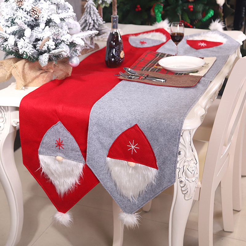Christmas Table Runner Creative Xmas Swedish Gnome Table Runner Christmas Decoration For Home Wedding Party Tables Desktop Decor
