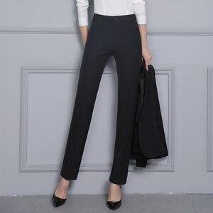 Image 4 - Vrouwen Formele Broek 2019 Herfst Hoge Taille Dames Rechte Kantoor Broek werkkleding Grote Plus Size S ~ 4XL 5XXXXXL Pantalon Femme