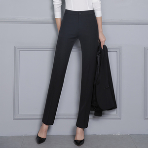 Image 4 - Women Formal Pants 2019 Autumn High Waist Ladies Straight Office Trousers Work wear Big Plus Size S~4XL 5XXXXXL Pantalon Femme