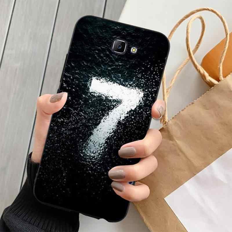 LVTLV black letter and number Coque Shell Phone Case for Samsung J4 PLUS J7PRO J5 J6 J7 PRIME J7 2016 2018 J8