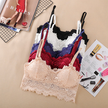 2020 New Arrival Women Push Up Wireless Lace Bra Top Women Plus Size Bralette Underwear Sexy Lingerie Full Cup Intimates