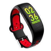 Умные водонепроницаемые часы Q6S с функцией мониторинга сердечного ритма, динамический смарт-браслет, 3D HD цветной экран, силиконовый ремень, аксессуар для фитнеса