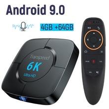 Android 9,0 4G 64G tv BOX 6K Youtube Google Assistant 3D видео ТВ приемник Wifi телевизионная коробка с Bluetooth Play Набор магазина top Box