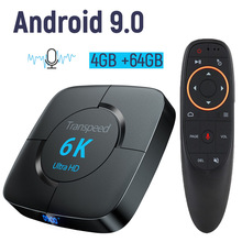 Android 9.0 4G 64G TV BOX 6K Youtube Google Assistant 3D Video TV receiver Wifi Bluetooth TV Box Play Store Smart Set top Box