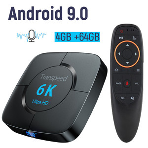Android 9.0 4G 64G TV BOX 6K Youtube Google Assistant 3D Video TV receiver Wifi Bluetooth TV Box Play Store Set top Box(China)