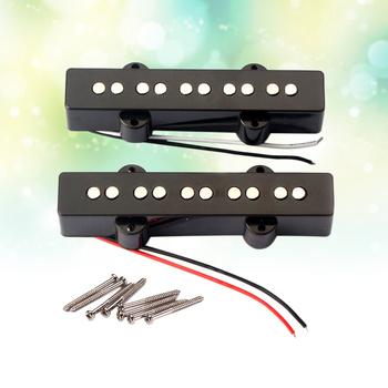 5 ciąg elektryczna gitara basowa przetworniki most szyi przetworniki zestaw dla Jazz JB gitara basowa otwarty styl części do gitary i akcesoria GMB08 Bla tanie i dobre opinie Other Unisex AE (pochodzenie)