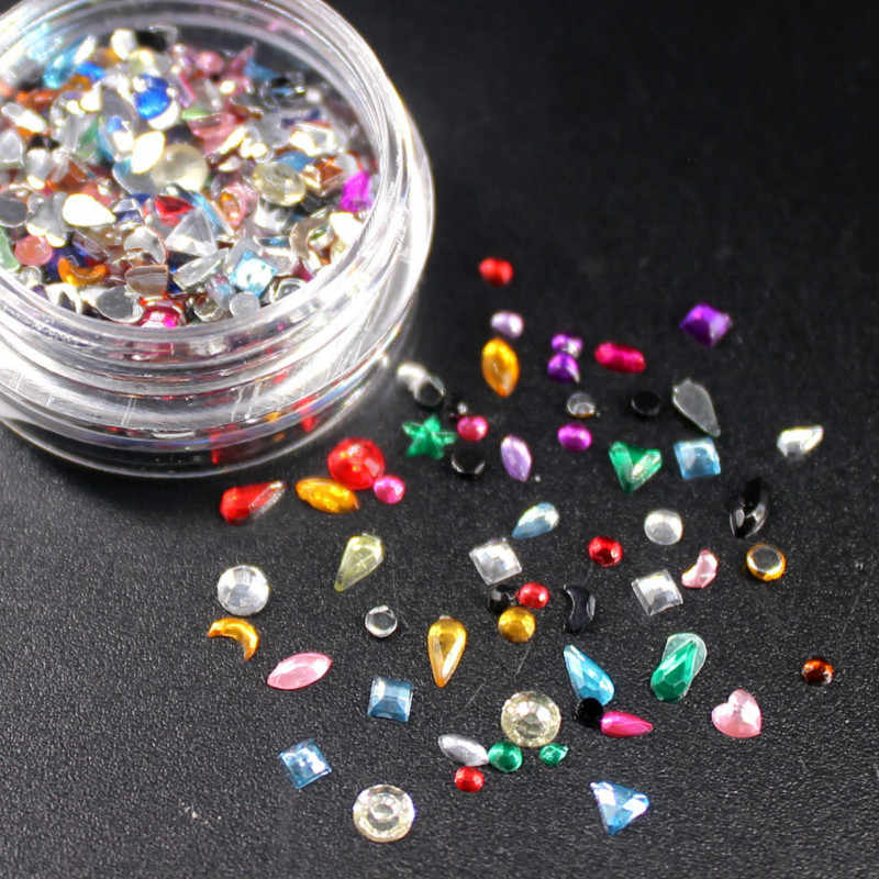 2018 Baru Kawaii DIY Colorful Glitter Kuku 3D Slice Bubuk Set DIY Desain Nail Art Payet Dekorasi Fashion Aksesoris