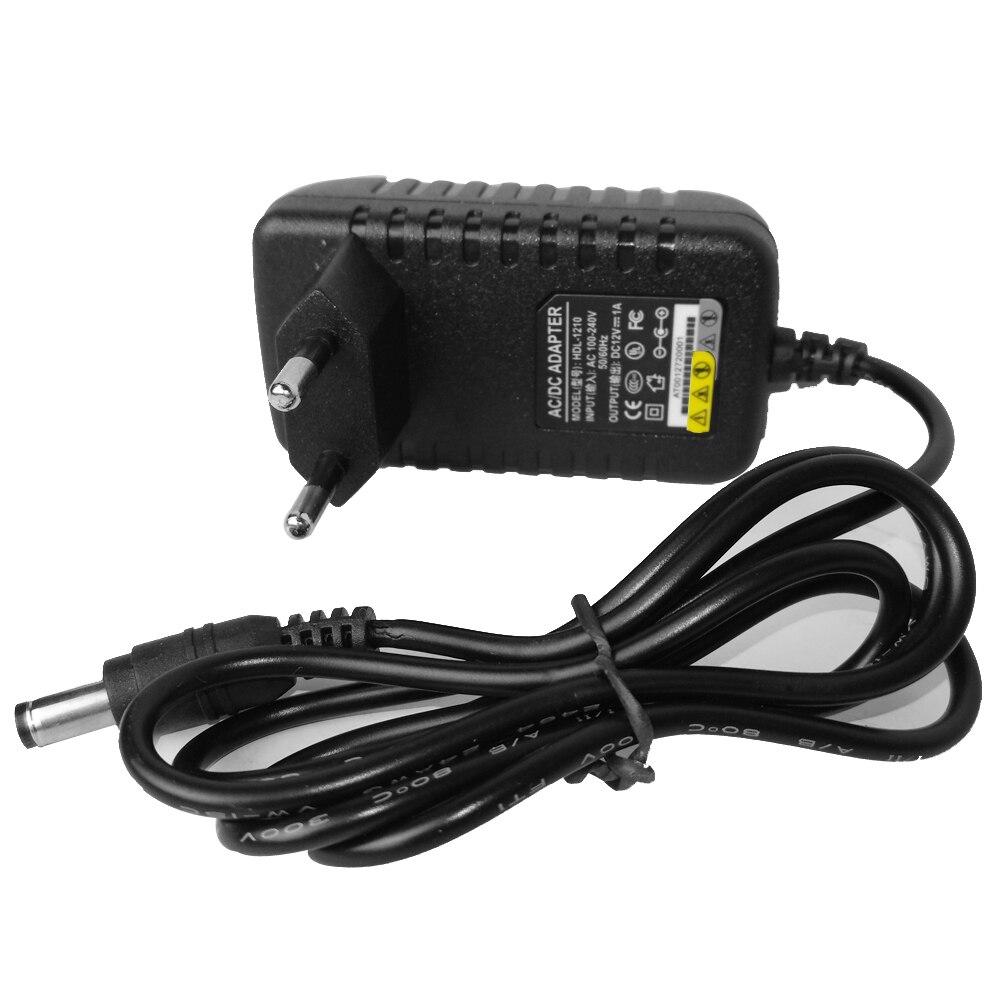 2V 1A AC 100V-240V Converter Adapter DC 12V 1000mA Power Supply EU US Plug 5.5mm X 2.1mm For CCTV IP AHD TVI CVI Camera