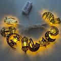 1,5-3 м 10 светодиодный украшения для Рамадана светодиодный строки с днем ИД вечерние Декор лампы ИД Ислам мусульманских праздничные вечерние ...