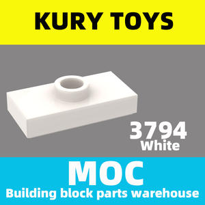 Jumper Building-Block-Parts Kury-Toys MOC DIY for 3794b/15573 with 1-Stud Modified-Plate