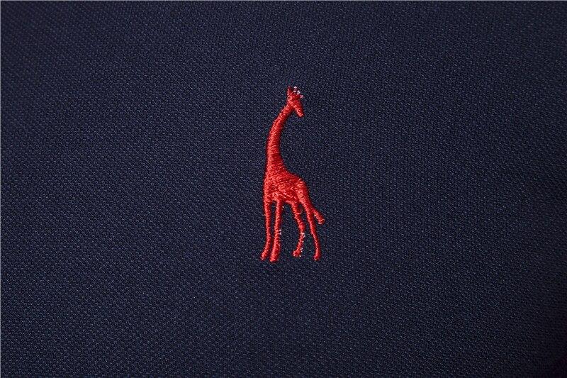 Image 5 - 2020 New Summer Cotton POLO Shirt Men Giraffe Brand Embroidery Polo Shirt Men High Quality Short Sleeve England Style Mens PolosPolo   -