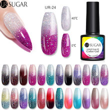 UR Gula 7.5Ml Thermal Glitter Gel Rendam Off UV Gel Polandia Suhu Berubah Warna UV Gel Pernis Kuku art Pernis(China)