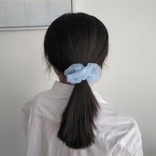 Solid color organza hair loop