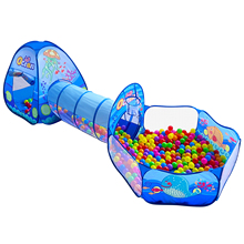 Tunnel-Tent Children's-Tent Pool Game-House Ocean-Balls Foldable Kids Play Large