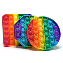 Pop fidget reliver estresse brinquedos arco-íris empurrá-lo bolha anti-stress brinquedos adultos crianças brinquedo sensorial para aliviar o autismo