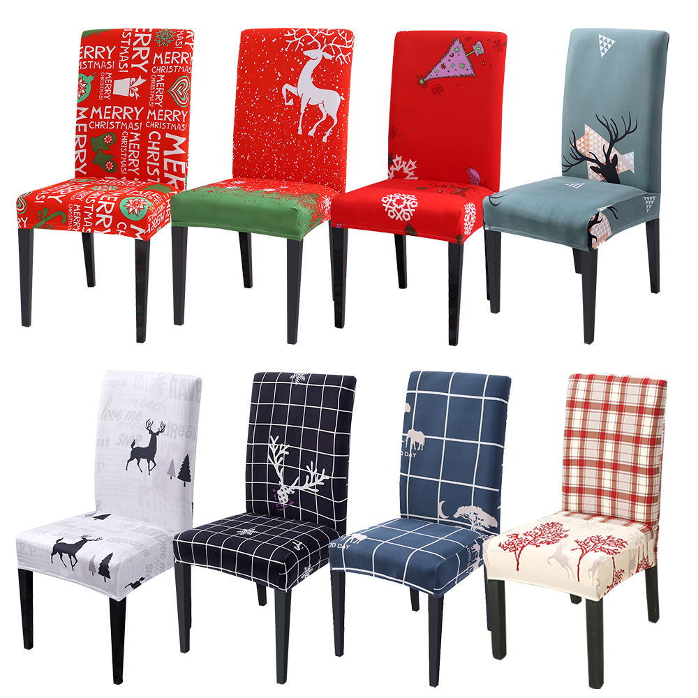 Removable Washable Chair Cover Stretch Elastic Dining Seat Cover Slipcover 76