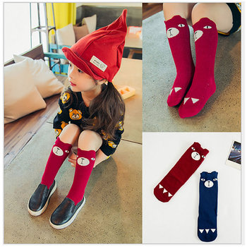 Baby Cute Girls socks knee high Fox Cotton  Knee Socks Kid Clothing unisex Toddler Boot Cartoon - discount item  31% OFF Children's Clothing