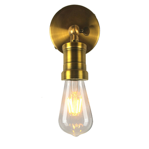 American Bronze Vintage Wall Lamp Retro Wrought Iron Wall Sconce Bedroom Bedside Wall Light Modern Edison Bulb Antique Lampada(China)