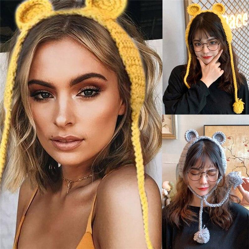 Knit Wool Crochet Earflap Winter Autumn Warm Plush Ear Muffs Cute Ins Fashion Earmuffs Ear-cap Lug Earflap Fashion Earmuffs CD