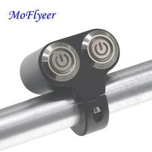 MoFlyeer Motorcycle Switches Handlebar Mount Switch Headlight Hazard Brake Fog Light LED Indicator Modification Latching Action