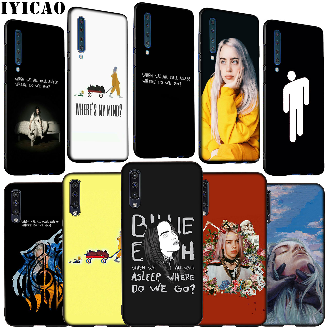 Billie Eilish where do we go Soft <font><b>Silicone</b></font> Phone <font><b>Case</b></font> for <font><b>Samsung</b></font> Galaxy <font><b>A70</b></font> A60 A50 A40 A30 A20 A10 M10 M20 M30 M40 A20E Cover image