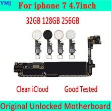 Original débloqué pour la carte mère diphone 7 avec lid de contact/sans identification de contact, iCloud gratuit pour la carte mère diphone 7 32GB 128GB 256GB