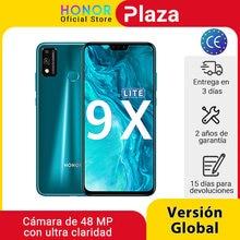 Nueva llegada versión Global Honor 9X Lite 4G 128G 48MP Cámara Kirin 710 de 6,5