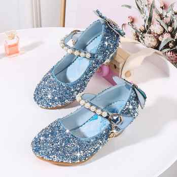 New Summer Sandals For Girls Baby Bow Sandals With High-heeled Toddler Children diamond Single Dress Shoes Pink Silver blue - DISCOUNT ITEM  47% OFF All Category