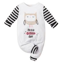 New Arrival Casual Baby Kids Jumpsuits Cartoon Owl Print Long Sleeve Romper Toddler Rompers