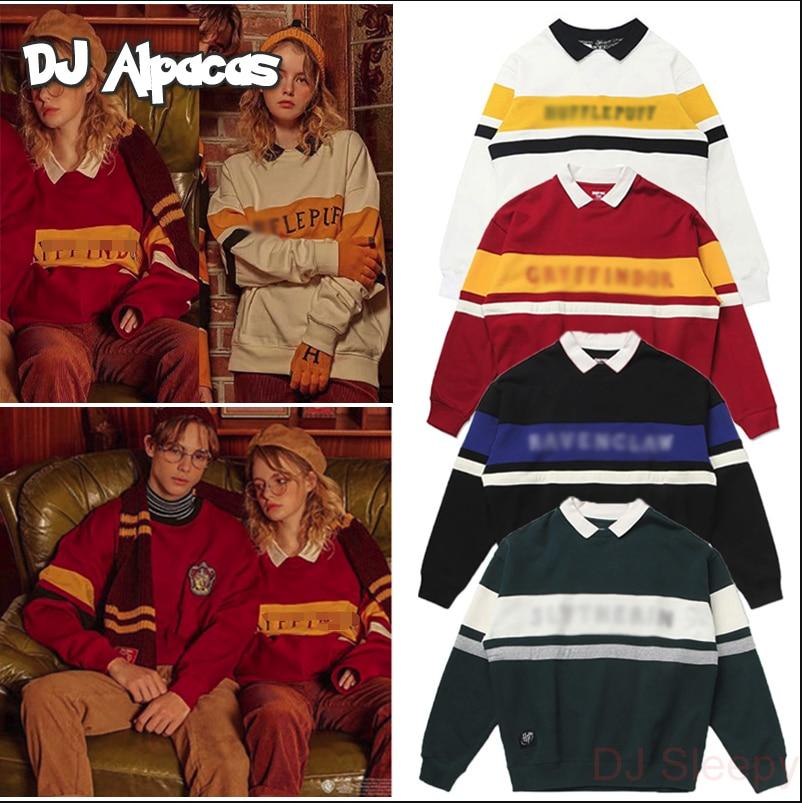 School Fashion Sweater Potter Couple Sweater Magic Uniform College Quidditch Neckline Birthday Costume