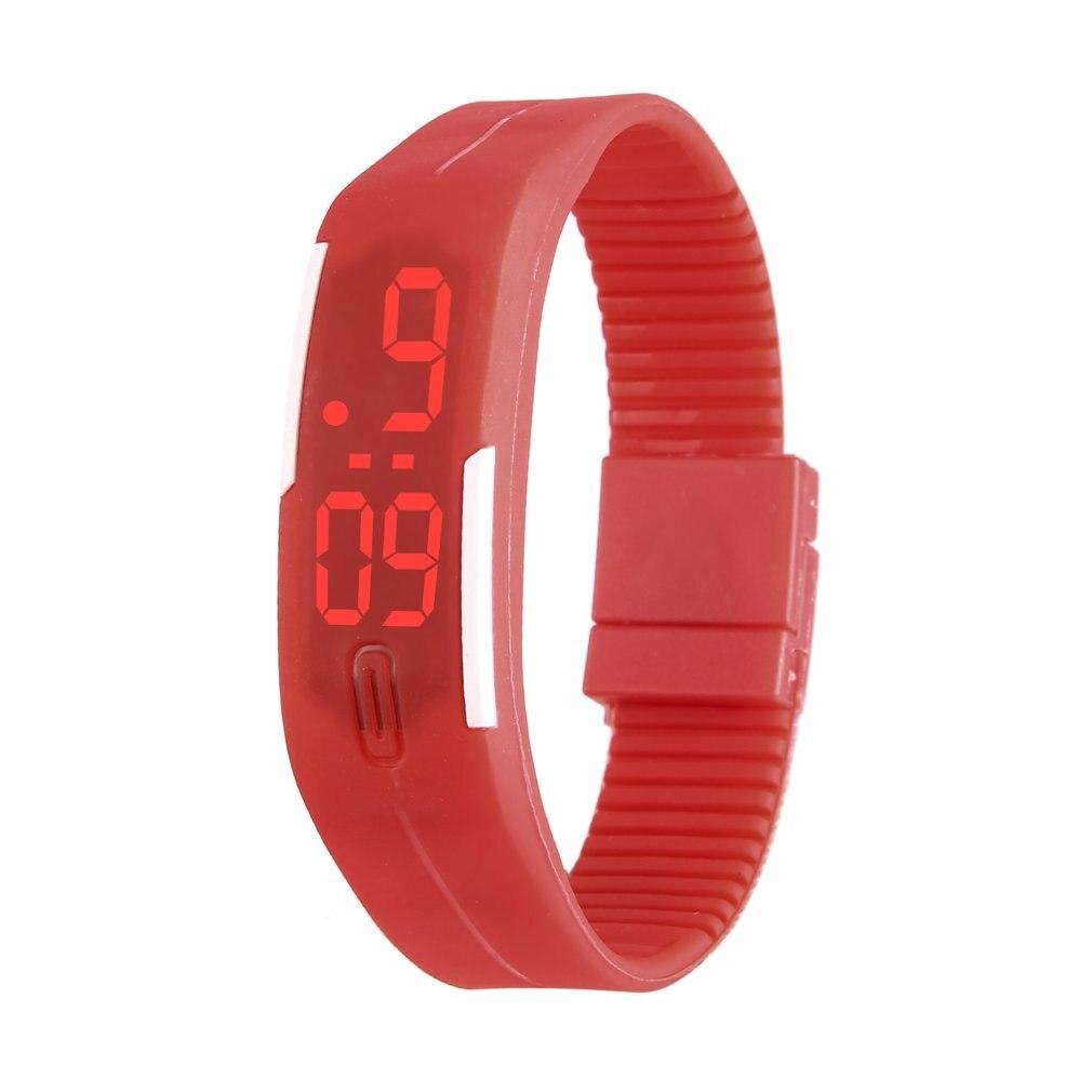 Kids LED Date Children Digital Outdoor Sports Clock Watch Silicone Wristwatch Birthday Gift For Boy Girls 2019 Fashion