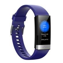 Смарт-браслет ECG+ PPG+ HRV пульсометр мониторинг сна кровяного давления Bluetooth фитнес-трекер большие светодиодные «Умные» часы