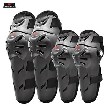 WOSAWE Adult Motorcycle Knee Pads Moto Protection Riding Elbow Guard Motocross Motorbike Off-road Racing MTB Knee Pads ML318 1