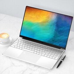 Impressão digital desbloquear 15.6 Polegada portátil ddr4 ram 12gb 1tb rom intel celeron j4105 windows 10 computador bluetooth teclado retroiluminado