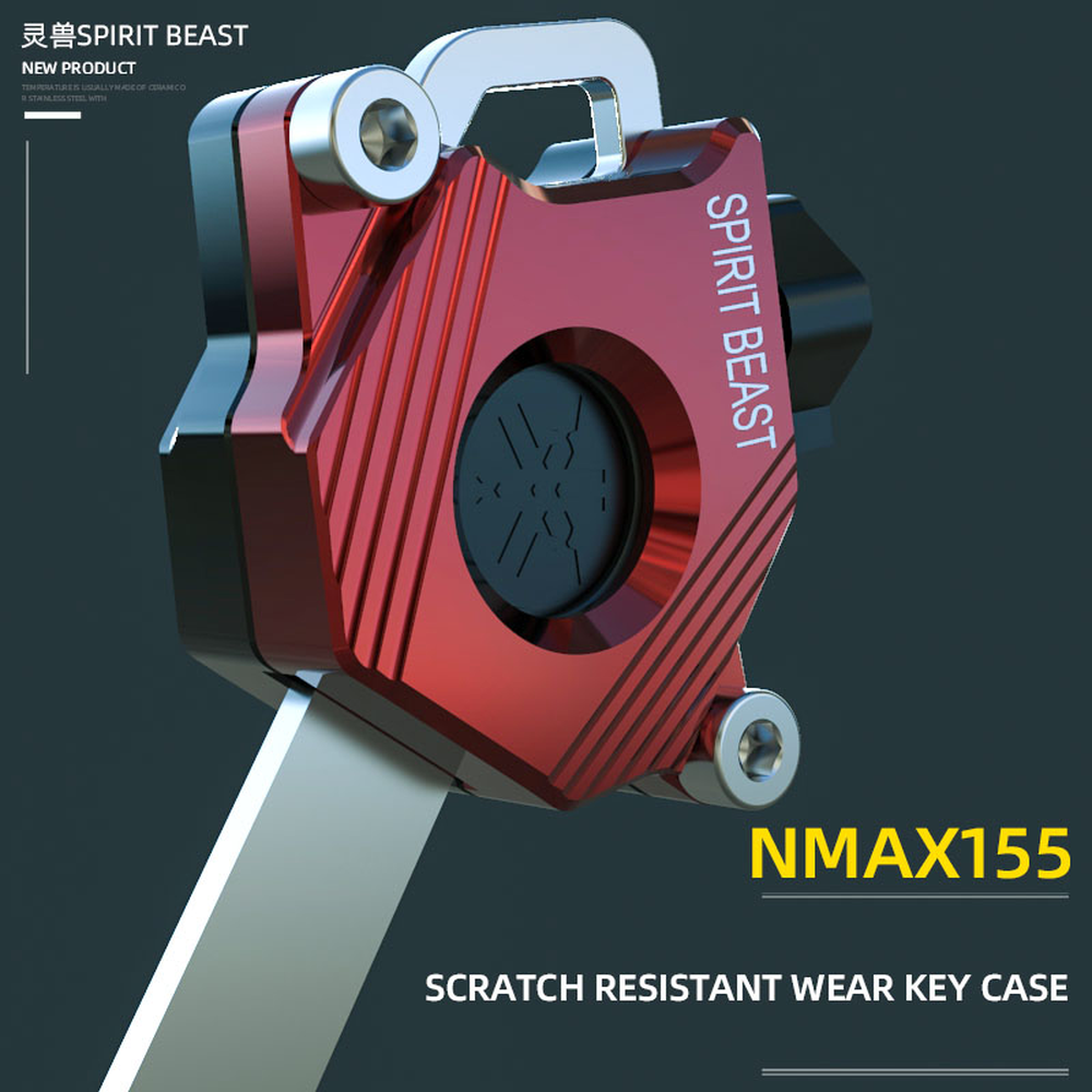 Spirit Beast CNC Aluminum Motorcycle Key Case Cover Accessories For Yamaha NMAX155