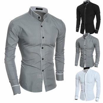 Mens Luxury Formal Shirt Male Fashion Noble Button Long Sleeve Casual Slim Fit Business Office Dress Shirts Solid Cotton Tops