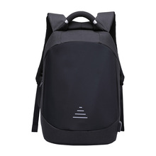 Erkekler su geçirmez Anti theft Laptop sırt çantaları Modernist görünüm su geçirmez USB şarj portu 15.6 dizüstü seyahat sırt çantası