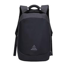 Homem impermeável anti roubo mochilas portátil modernista olhar resistente à água com porta de carregamento usb 15.6 notebook viagem mochila