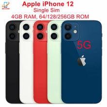 Apple – authentique smartphone iPhone 12 5G débloqué, téléphone portable, écran de 6.1 pouces, RAM de 4 go, ROM de 64/128/256 go, A14, bionique, IOS, identification faciale, NFC