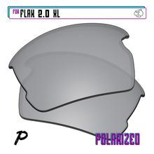 EZReplace Polarized Replacement Lenses for - Oakley Flak 2.0 XL Sunglasses - Silver P