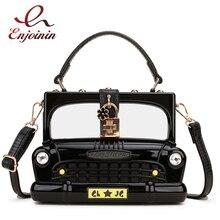 Fashion Black Car Shape Acrylic Box Shape Women Handbag Shoulder Bag Purse Crossbody Bag Female Party Clutch Bag Designer Bag