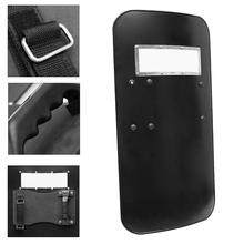 Black Handheld PC Plastic Tactical Anti-Riot Shield Self Protection Security Anti-Riot Shield Self Defence Tool Defense Protect