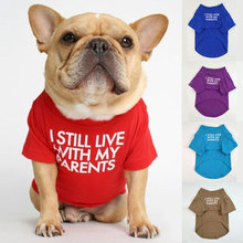Big Size Letters Printed Summer Dog T-shirt Pure Cotton Dog Clothes for French Bulldog Soft Breathable Pet Costume 2020 Fashion