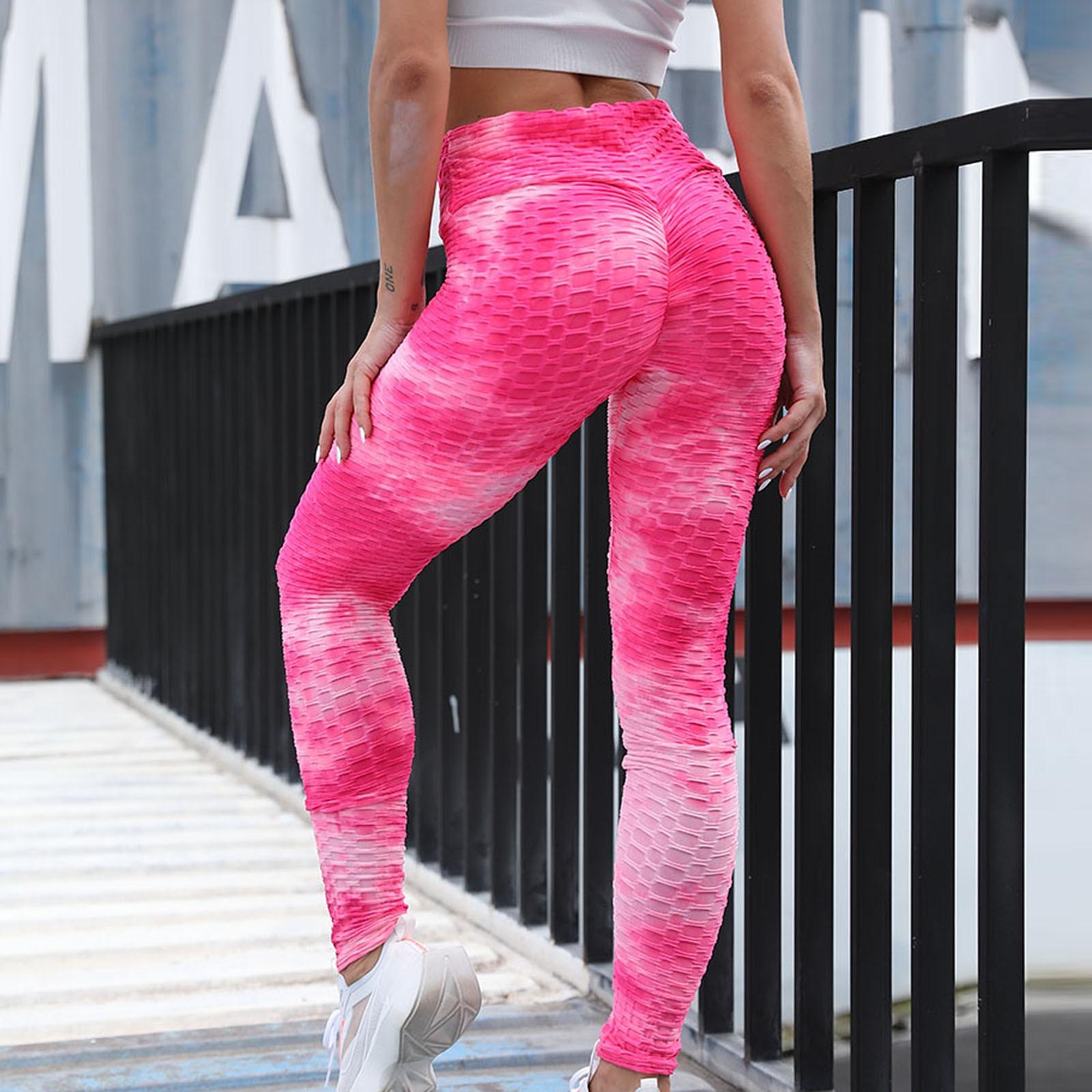 4# Leggings Women Ink Tie dye Honeycomb High stretch Leggings Push Up Bubble Anti cellulite Leggings Women Штаны Женский|Leggings| - AliExpress
