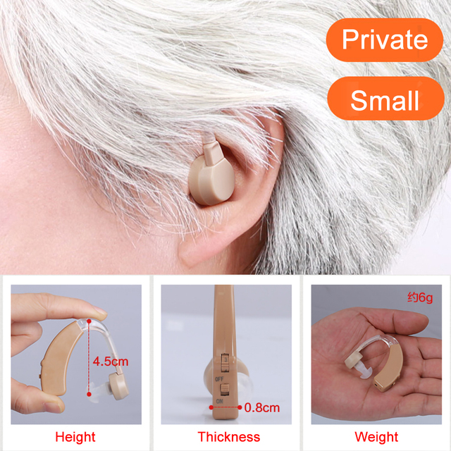 Cofoe A Pair Hearing aid Mini Rechargeable BTE Hearing aids Sound Amplifier USB Hearing Amplifier For The Elderly Both Ears Hear 3
