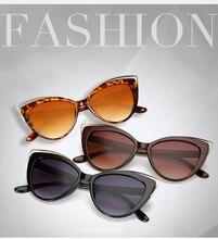 ZXRCYYL Fashion Classic Cat eye Sunglasses Women Luxury Brand Designer  Gradient Lens Retro Style Sun glasses UV400