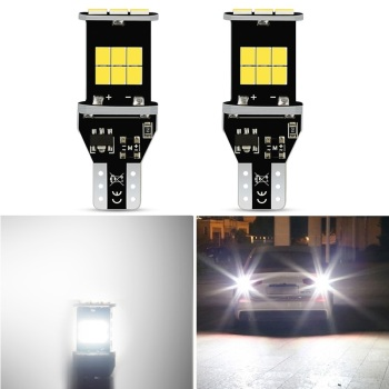 2x T15 W16W Canbus White LED Backup Reverse Light For BMW E46 E90 E60 E39 E36 F30 F10 F20 F25 E30 E34 E53 X5 E87 E70 E92 X3 E83 image